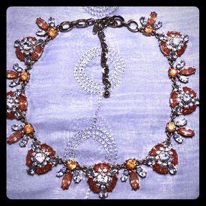 Natasha pink crystal retro necklace